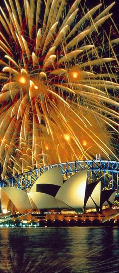 fireworks in Sydney, Australia over the Opera House.I want my husband and me to kiss underneath these fireworks. Dream Vacations, Vacation Spots, Summer Vacations, Vacation Travel, Places To Travel, Places To See, Places Around The World, Around The Worlds, Beautiful World