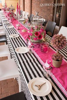 Parisian high tea birthday party table! See more party planning ideas at CatchMyParty.com!