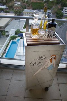 Hello Miss Dolly Airline Catering Cart.  Meticulously polished and hand painted this revived Qantas old darling lives on as a classy scotch bar. Timber shelves and drawers for your favorite wine inside if u fancy.  Needs to compliment your home.  Visit aviartaustralia.com