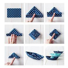 Fancy way to fold a napkin