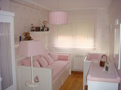 Stores for baby room Girl Bedroom Designs, Girls Bedroom, Nursery Room, Baby Room, Hemnes Bed, Toddler Rooms, Ikea Bedroom, Little Girl Rooms, Fashion Room