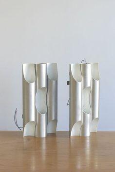 2 X MODERNIST Raak TRIPLE WALL LAMPS Bauhaus-Mid-Century Modern Eames Arteluce | eBay