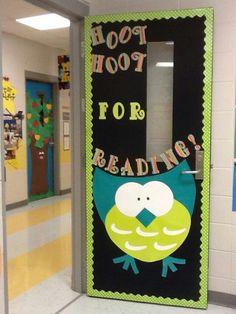 Owl classroom door @Pamela Culligan Culligan Culligan Culligan Hichens McElroy