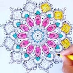 Mandala Art Lesson, Mandala Drawing, Mandala Painting, Dot Painting, Flower Coloring Pages, Mandala Coloring Pages, Coloring Book Pages, Pattern Coloring Pages, Coloring Sheets