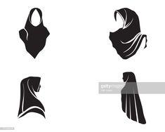 Stock vector hijab logo vector PNG and Vector Islamic People, Hijab Logo, Free Vector Art, Vector Vector, Human Vector, Vectors, Japan Logo, Hijab Cartoon, Love Logo
