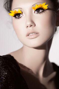 Sunflower eyelashes?