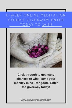 Enter to win a 6-week online meditation course to learn the basics and take a deeper dive in how meditation can help you get healthier.