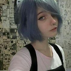 new ideas for hair short anime girl tomboy Green Hair, Blue Hair, Hair Inspo, Hair Inspiration, Inspo Cheveux, Short Grunge Hair, Suicide Girls, Emo Girls, Anime Girls