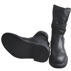 Best Black Leather Goth and Punk Riding Boots for Men SKU-1100024 - Really really cool~! Must have~!