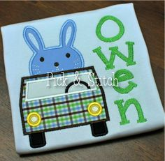 Beep Beep Easter Bunny Car Applique Design Machine Embroidery INSTANT DOWNLOAD by pickandstitch on Etsy https://www.etsy.com/listing/177398975/beep-beep-easter-bunny-car-applique