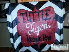 Personalized Sports Team School Blanket by RebelChickBoutique, $55.00