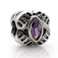 Gems and Silver Purple Eyes  Birthstone Charms   Fit pandora,trollbeads,chamilia,biagi,soufeel and any customized bracelet/necklaces. #Jewelry #Fashion #Silver# handcraft #DIY #Accessory