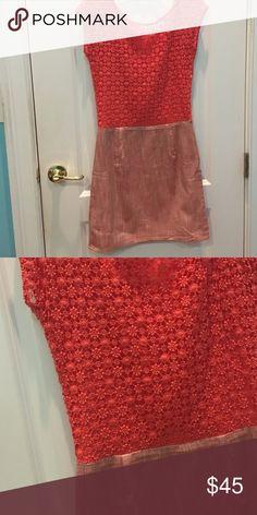 NafNaf Dress Crochet and sparkly detail. From France. Dresses