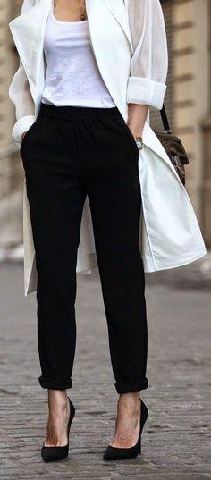 How To Wear Black Slacks Work Outfits 33 Ideas Brooklyn Blonde, Look Office, Office Looks, Stylish Office, Office Fashion, Work Fashion, Net Fashion, Style Fashion, Looks Style