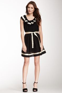 Ribbon Trim Dress.