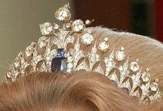 Dutch Sapphire tiara in alternate form