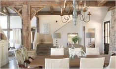 Rustic and Graceful Lake House by Tracery Interiors ~ Interior Design Files ~sigh~