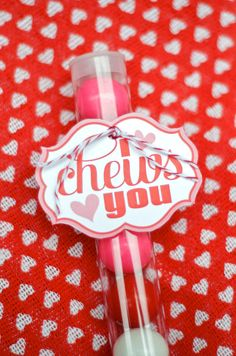 Valentine PRINTABLE 'I Chews You' Tag 5.00