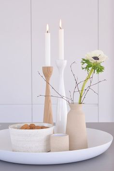 - Scandinavian Design Trends - Have Best Home Decor ! Large Candle Holders, Large Candles, Scandinavian Candle Holders, Fire Candle, Design House Stockholm, Kmart Home, Treehouse Living, Photo Candles, Easter Table Decorations