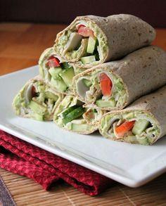 Turkey Wrap with a Delicious Creamy Chipotle Avocado Spread | healthy wrap recipe
