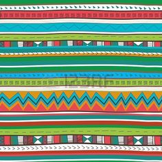 Seamless background with drawing tribal pattern Stock Photo - 20125160
