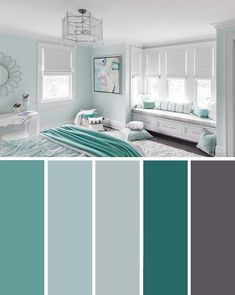 20 Beautiful Bedroom Color Schemes ( Color Chart Included ) – Decor Home Ideas 20 Beautiful Bedroom Color Schemes ( Color Chart Included ) Turquoise White Bedroom Color Scheme Living Room Color Schemes, Living Room Designs, Home Color Schemes, House Color Schemes Interior, Colorful Bedroom Designs, Color Schemes For Bedrooms, Apartment Color Schemes, Color Interior, Interior Paint