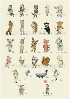 Paola Zakimi - ABC Tiere - Das Alphabet I
