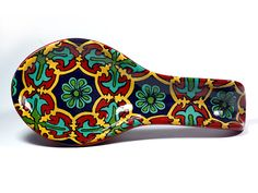 Colorful Mexican Talavera Style Ceramic Spoon Rest by TheTikiQueen, $32.95