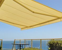 Instant shade for ground floor windows, balconies, patios, decks and terraces. This versatile Folding Arm Awning provides a retractable cover with an adjustable pitch for optimum protection, whatever the angle of the sun or rain. Folding arms extend the awning horizontally up to four metres, then fold it away neatly, leaving the area free of any structure.