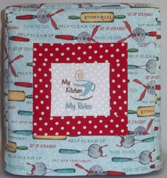 Kitchenaid Mixer Cover  Kitchen Rules by PatsysPatchwork on Etsy, $38.00