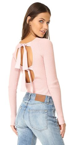 Elizabeth and James Fay Tie Back Long Sleeve Sweater | SHOPBOP
