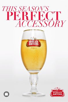 It looks like the perfect holiday beer because it is. Originally brewed for the season, Stella Artois is meant to remind us that despite all of the holiday chaos, there's always time for love and human connection.
