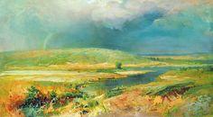 The Volga lagoons, 1870, Fedor Vasilyev. #russia #art #drawing #vasilyev