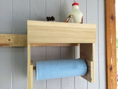 Glue/Paper Towel Station - by scarpenter002 @ LumberJocks.com ~ woodworking community