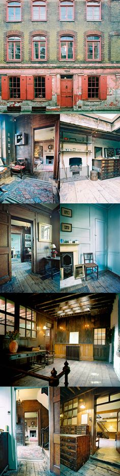 4 Princelet Street, London - What I would give to live in this kind of flat… Georgian Interiors, Georgian Homes, Vintage Interiors, Abandoned Houses, Old Houses, London History, Local History, English Interior, Distressed Walls