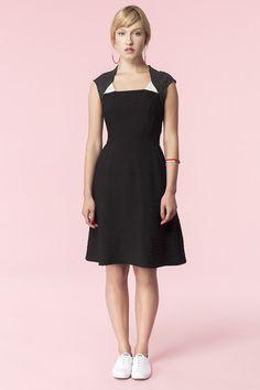 Workshop Studio & Boutique | Jennifer Glasgow - Saharan Dress | Made in Canada | www.workshopboutique.ca Glasgow, Workshop Studio, Dresses For Work, Canada, Boutique, Pretty, Clothes, Collection, Black