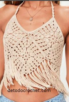 Ideas For Crochet Top Halter Outfit Top Tejidos A Crochet, Débardeurs Au Crochet, Patron Crochet, Crochet Woman, Free Crochet, Crochet Summer Tops, Crochet Crop Top, Crochet Blouse, Crochet Bikini