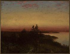 John Frederick Kensett (United States, 1846-1872). Sunset Near Darien, c. 1872. The University of Michigan Museum of Art, Michigan. Anonymous Gift, 1975. http://www.umma.umich.edu