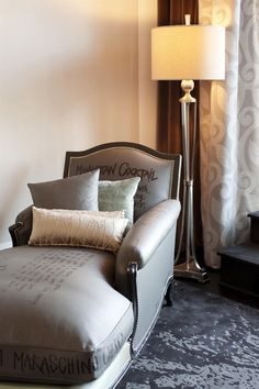 Chaise lounge in the Presidential Suite ~ Artistic luxury at The Surrey in Manhattan