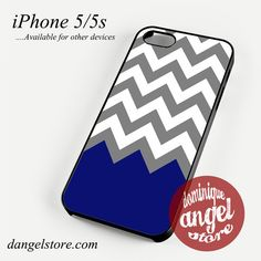 Grey White Blue Navy Chevron Phone case for iPhone 4/4s/5/5c/5s/6/6 plus