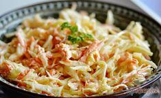 Leichter Gurkensalat mit saurer Sahne Light cucumber salad with sour cream. Served as a vegetable accompaniment to a main course … Shrimp Salad, Cucumber Salad, Coleslaw Salat, Czech Recipes, Ethnic Recipes, Vegetable Salad, Kfc, Cabbage, Dessert Recipes