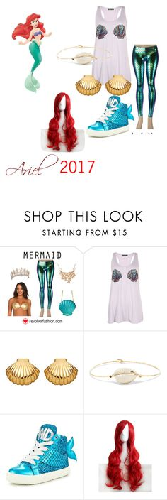 """""""The Little Mermaid 2017"""" by whovieintraining ❤ liked on Polyvore featuring Astley Clarke, Pascale Monvoisin, Miss KG, Disney and WithChic"""
