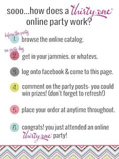 Thirty one FB Party!