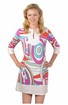 Love this dress!  Flirty fun for your spring and summer cocktail parties...or pair it with flip flops for your next poolside ladies' luncheon.