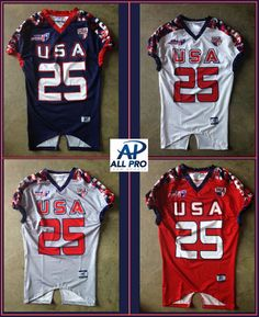 78f7c23d9ac4 All Pro was tasked to develop a uniform to allow Team USA Football to  perform at the highest level   make a statement at the same time.