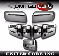 15-16 Ford F150 Triple Chrome 4 Door handle w// Smart Key+Back Plate Lever Cover
