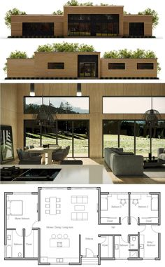 Container House - Container House - Petite Maison … - Who Else Wants Simple Step-By-Step Plans To Design And Build A Container Home From Scratch? Who Else Wants Simple Step-By-Step Plans To Design And Build A Container Home From Scratch? House Layout Plans, Modern House Plans, Small House Plans, House Layouts, Modern House Design, House Floor Plan Design, Modern Floor Plans, Building A Container Home, Container House Plans
