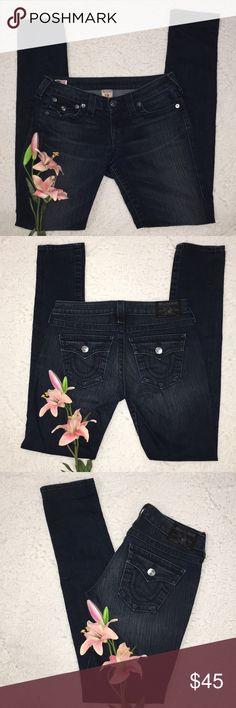 LADIES TRUE RELIGION JEANS EXCELLENT USED CONDITION   INSEAM IS 34 True Religion Jeans Skinny