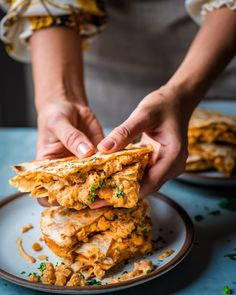 Vegan Buffalo Chickpea Quesadillas | Rainbow Plant Life #Chickpea #garbanzobeans #garbanzos #chickpeas #cook #dinner #vegan #veganrecipes #veganfood #healthylifestyle #healthy #healthyfood #nutrition Vegan Vegetarian, Vegetarian Recipes, Healthy Recipes, Vegan Raw, Healthy Vegan Meals, Vegan Chili, Vegetarian Barbecue, Barbecue Recipes, Vegan Foods