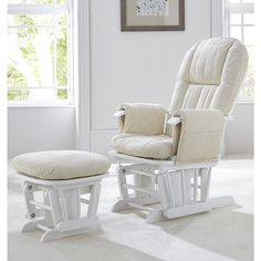 The Tutti Bambini GC35 Deluxe Reclinable Glider Chair includes a clever gliding mechanism, comfortable cushions and a relaxing motion, which works miracles for mum and baby. This luxurious product will really ease the process of getting baby to sleep and feeding!